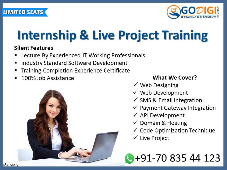 Join Internship & Live Project Training Program By GoDigi InfoTech